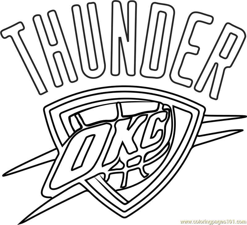 image about Okc Thunder Printable Schedule referred to as Oklahoma Metropolis Thunder printable coloring website page for little ones and