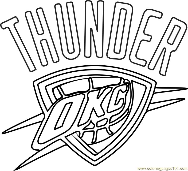 Oklahoma City Thunder Coloring Page Nba Pages