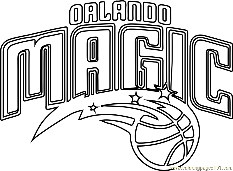 Orlando Magic Coloring Page Free Nba Coloring Pages