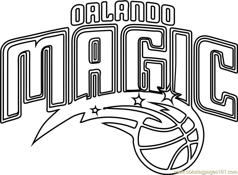 Orlando Magic Coloring Page Free Nba Coloring Pages