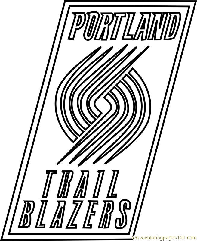 Portland Trail Blazers Coloring Page