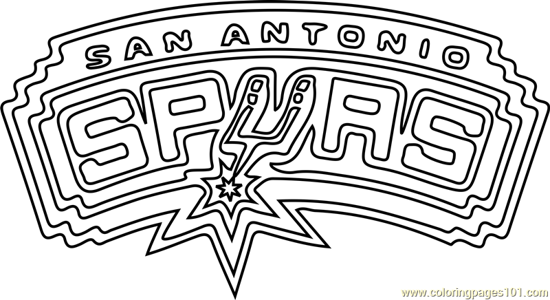 San Antonio Spurs Coloring Page - Free NBA Coloring Pages ...