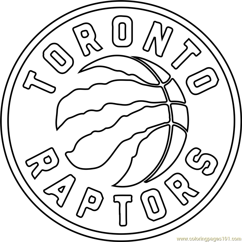 Toronto Raptors Coloring Page Free Nba Coloring Pages