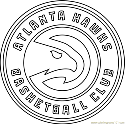 Atlanta Hawks Free Coloring Page for Kids