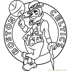 Boston Celtics Free Coloring Page for Kids