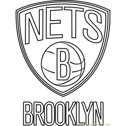 Brooklyn Nets Free Coloring Page for Kids