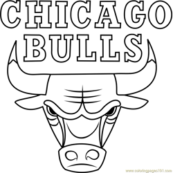Chicago Bulls Free Coloring Page for Kids