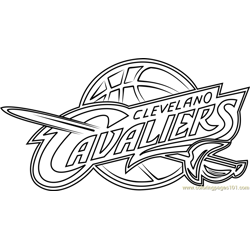 Cleveland Cavaliers Free Coloring Page for Kids