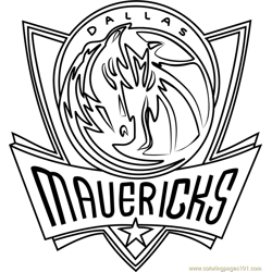 Dallas Mavericks Free Coloring Page for Kids