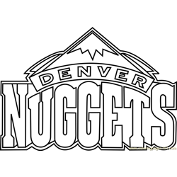 Denver Nuggets Free Coloring Page for Kids