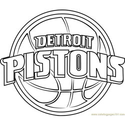 Detroit Pistons Free Coloring Page for Kids