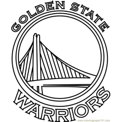 Golden State Warriors Free Coloring Page for Kids