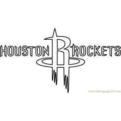 Houston Rockets Free Coloring Page for Kids