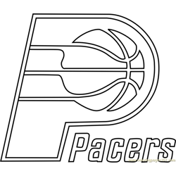 Indiana Pacers Free Coloring Page for Kids