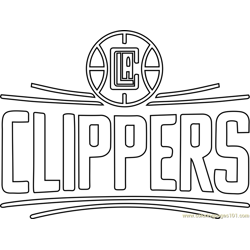 Los Angeles Clippers Free Coloring Page for Kids