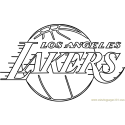 Los Angeles Lakers Free Coloring Page for Kids