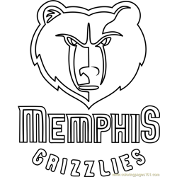 Memphis Grizzlies Free Coloring Page for Kids