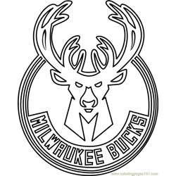 Milwaukee Bucks Free Coloring Page for Kids