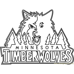 Minnesota Timberwolves Free Coloring Page for Kids