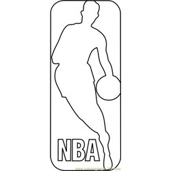 NBA Logo Free Coloring Page for Kids