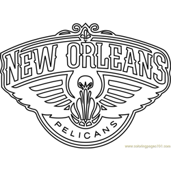 New Orleans Pelicans Free Coloring Page for Kids