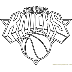 New York Knicks Free Coloring Page for Kids