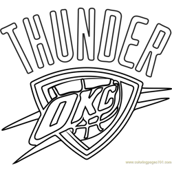 Oklahoma City Thunder Free Coloring Page for Kids