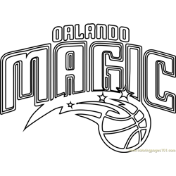 Orlando Magic Free Coloring Page for Kids