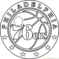 Philadelphia 76ers Free Coloring Page for Kids