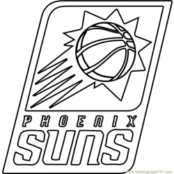 Phoenix Suns Free Coloring Page for Kids