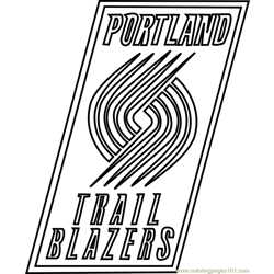 Portland Trail Blazers Free Coloring Page for Kids