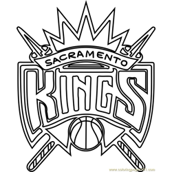 Sacramento Kings Free Coloring Page for Kids