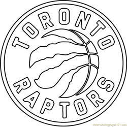 Toronto Raptors Free Coloring Page for Kids