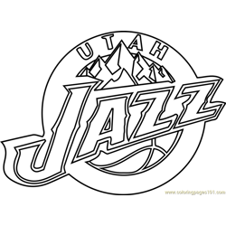 Utah Jazz Free Coloring Page for Kids