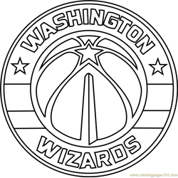 Washington Wizards Free Coloring Page for Kids