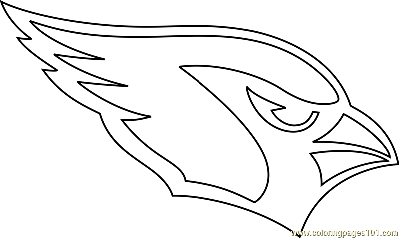 cardinals coloring pages baseball logos | Arizona Cardinals Logo Coloring Page - Free NFL Coloring ...