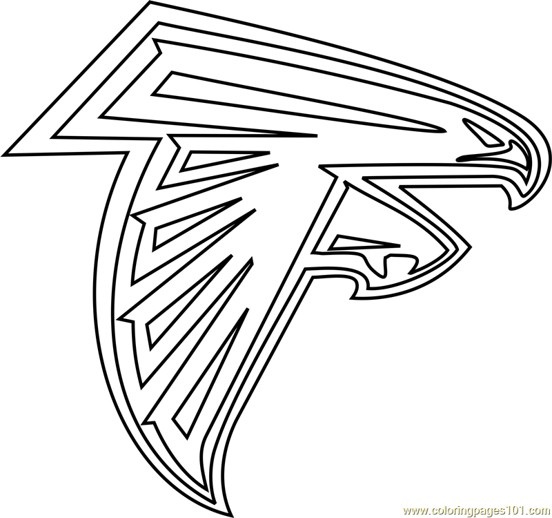 Coloring Pages Of The Falcons Sign