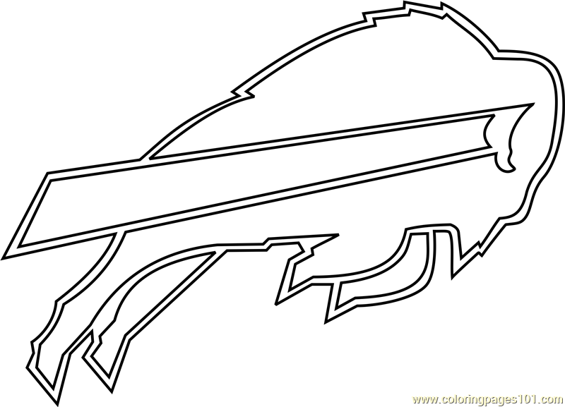 Buffalo Bills Logo Coloring Page - Free NFL Coloring Pages ...