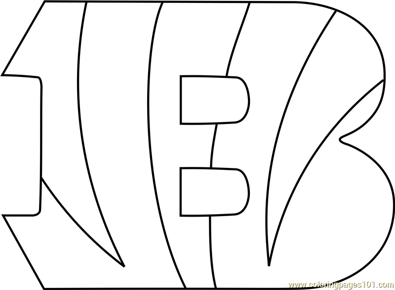 It's just a graphic of Shocking Coloring Pages Of The Bengals Logo
