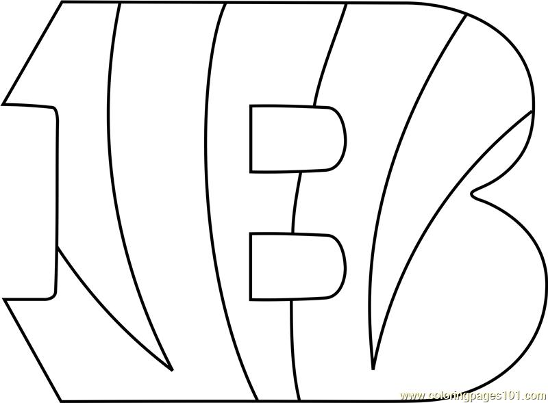 nfl cincinnati bengals coloring pages   Cincinnati Bengals Logo Coloring Page - Free NFL Coloring ...