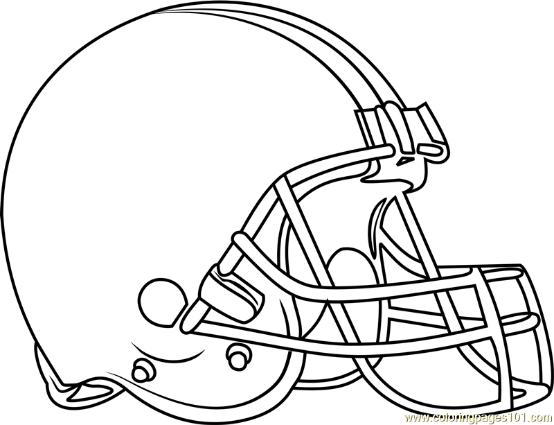 Cleveland Browns Logo Coloring Page
