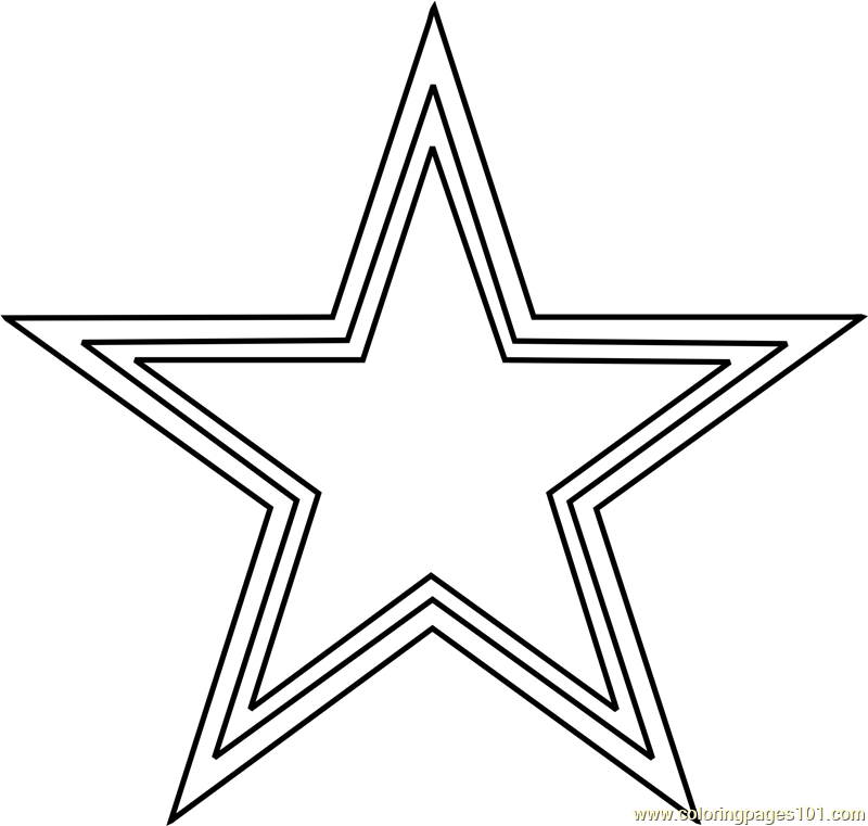 Dallas Cowboys Logo Coloring Page