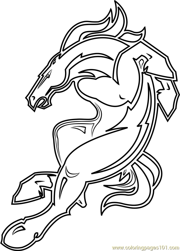 Denver Broncos Mascot Coloring Page For Kids - Free NFL Printable Coloring  Pages Online For Kids - ColoringPages101.com Coloring Pages For Kids