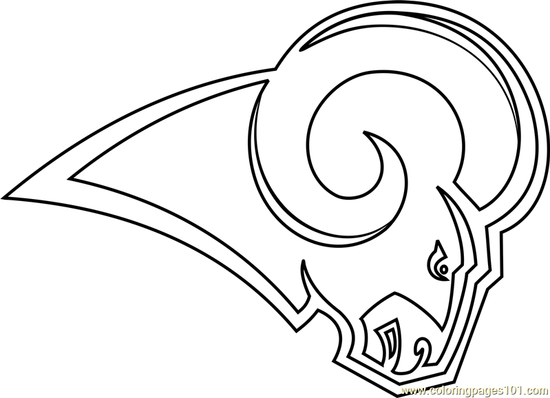Los Angeles Rams Logo Coloring Page Free Nfl Coloring