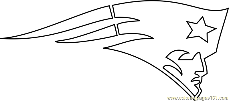 New England Patriots Logo Coloring Page