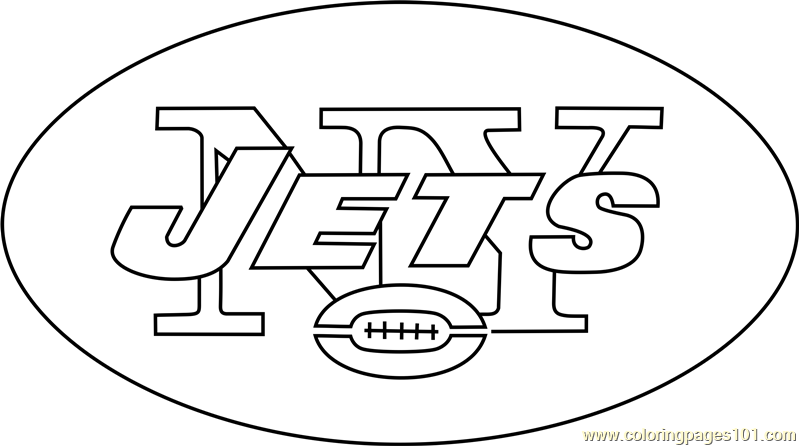 New York Jets Logo Coloring Page