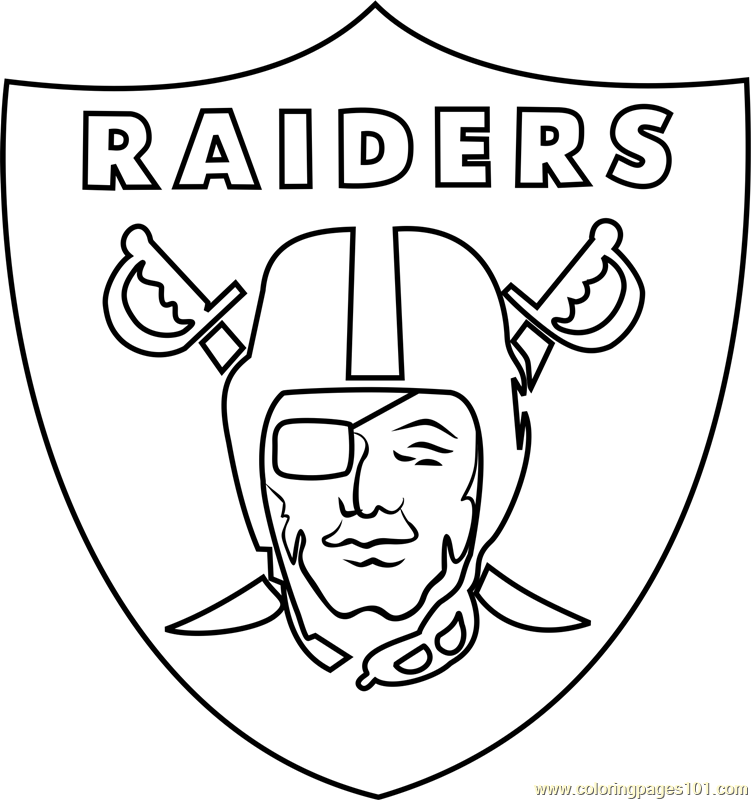 Oakland Raiders Logo Coloring Page Free Nfl Coloring