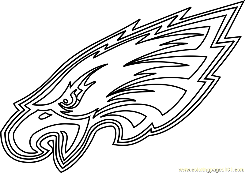 Philadelphia Eagles Logo Coloring Page Free Nfl Coloring Pages