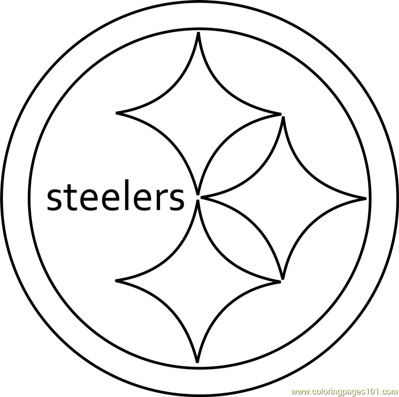 steelers logos coloring pages | Pittsburgh Steelers Logo Coloring Page - Free NFL Coloring ...