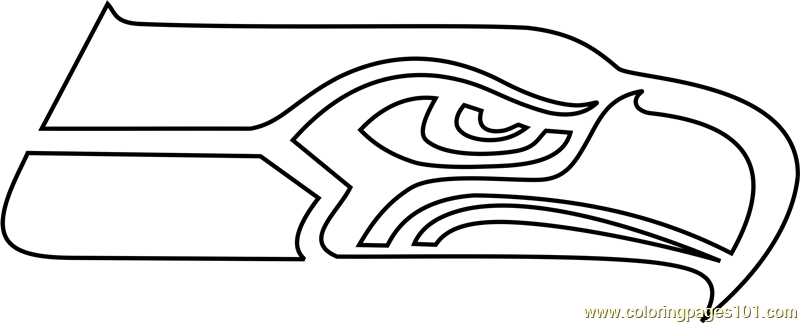 Seattle Seahawks Logo Coloring Page - Free NFL Coloring Pages ...
